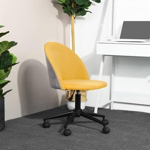 Porch & Den Wagontrain Two-tone Velvet Upholstery Home Office Swivel Chair