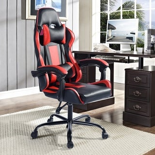 Porch & Den Zackwood Ergonomic Racer Style Swivel Reclining Gaming Chair