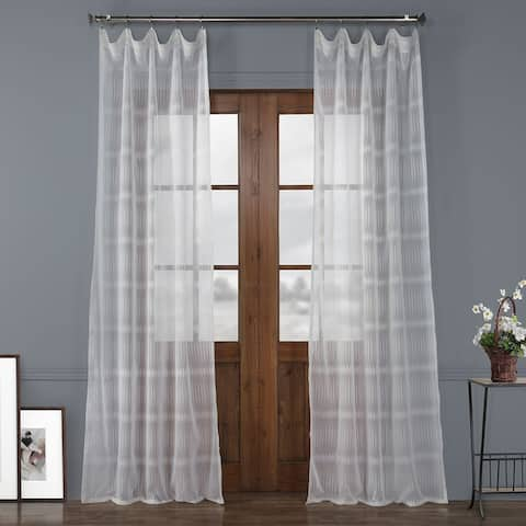 Exclusive Fabrics Polaris Patterned Linen Sheer Curtain