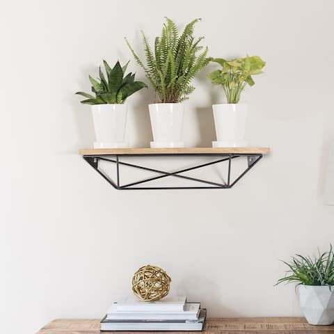 The Curated Nomad Aubrenne Accent Wall Shelf