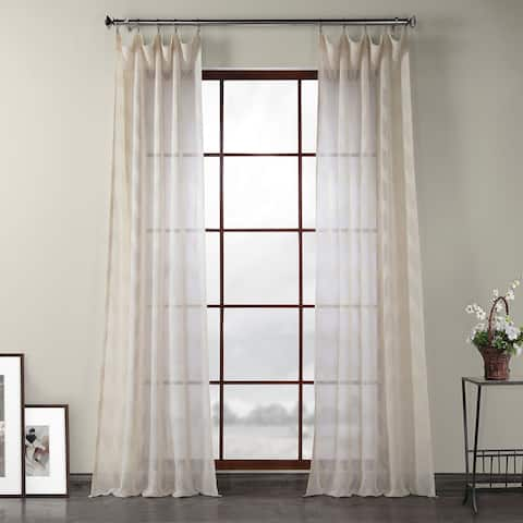Exclusive Fabrics Sirius Patterned Linen Sheer Curtain