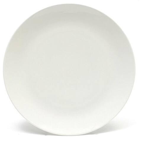 Melange Coupe 24-Pcs Porcelain Salad Plate Set, Service for 8,Salad Plate (8 Pcss), Color: White