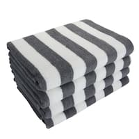 California Cabana Striped Oversized Beach Towel (4-pack)