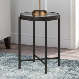 Carbon Loft Turgon Blackened Bronze Side Table