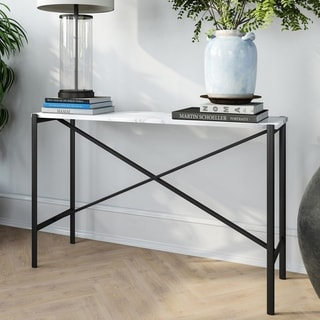 Braxton Black and Marble Console Table