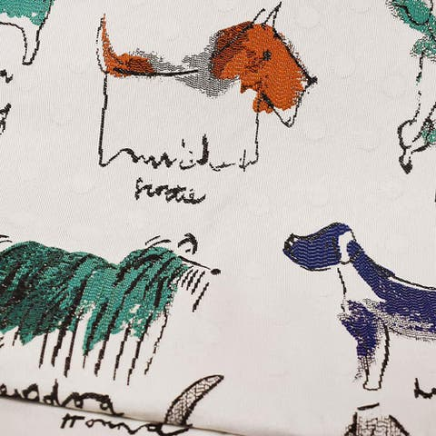 Kotter Home Puppy Parade Upholstery Fabric by the Yard
