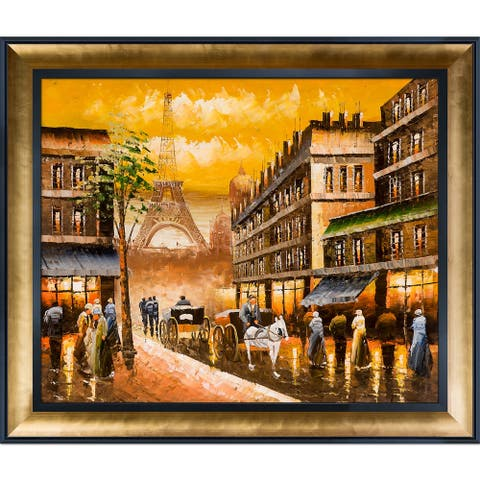 Evening's Delight in Paris' Hand Painted Oil Reproduction