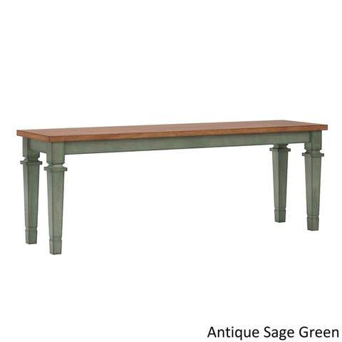 Elena II Solid Wood Dining Bench by iNSPIRE Q Classic