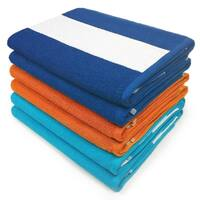 Kaufman - Cabana Terry Loop Beach and Pool Towel 6-Pack BOT - 30in x 60in - Multi