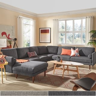 Oana Mid-Century Sectional Sofa with Chaise Lounge by iNSPIRE Q Modern