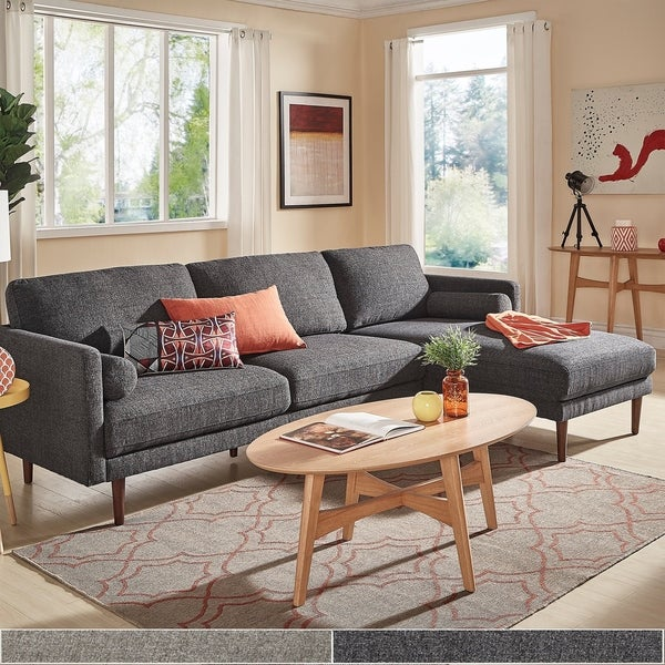 Shop Oana Mid-Century Sectional Sofa with Chaise Lounge by iNSPIRE Q ...