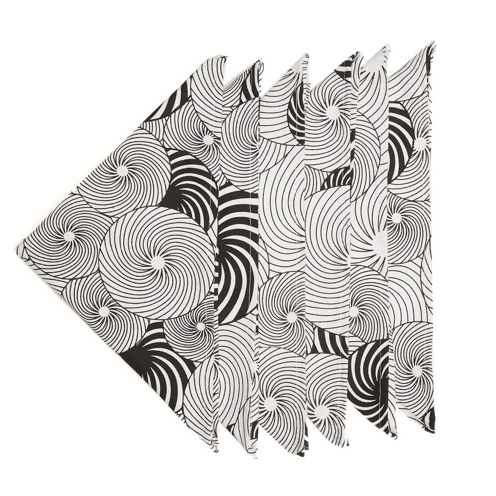 In-Sattva Home Geometric Print Soft Cotton Bohemian Table Napkin Set (1 Inches)