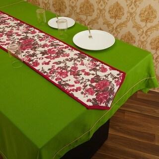 In-Sattva Home Bohemian Signature Print Table Runner (Magenta)