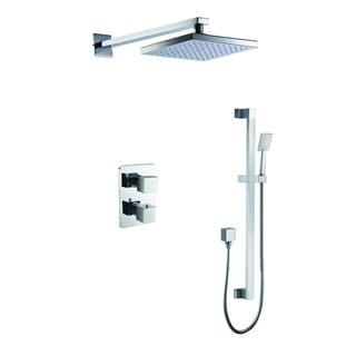 Link to ALFI brand AB2830-PC Polished Chrome 2 Way Thermostatic Square Shower Set Similar Items in Showers