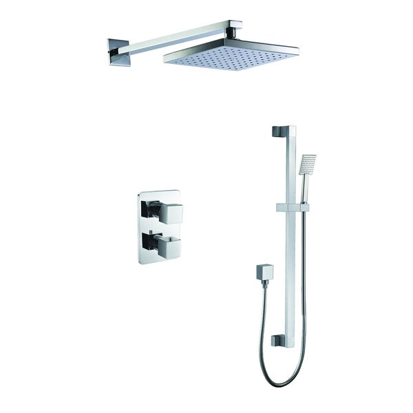 ALFI brand AB2830-PC Polished Chrome 2 Way Thermostatic Square Shower Set. Opens flyout.