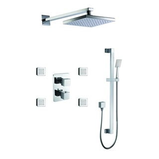Link to ALFI brand AB2287-PC Polished Chrome 3 Way Thermostatic Shower Set with Body Sprays Similar Items in Showers