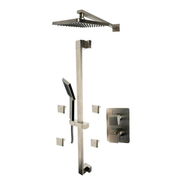 ALFI brand AB2287-BN Brushed Nickel 3 Way Thermostatic Shower Set with Body Sprays. Opens flyout.