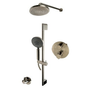 Link to ALFI brand AB2545-BN Brushed Nickel Round Style 2 Way Thermostatic Shower Set Similar Items in Showers