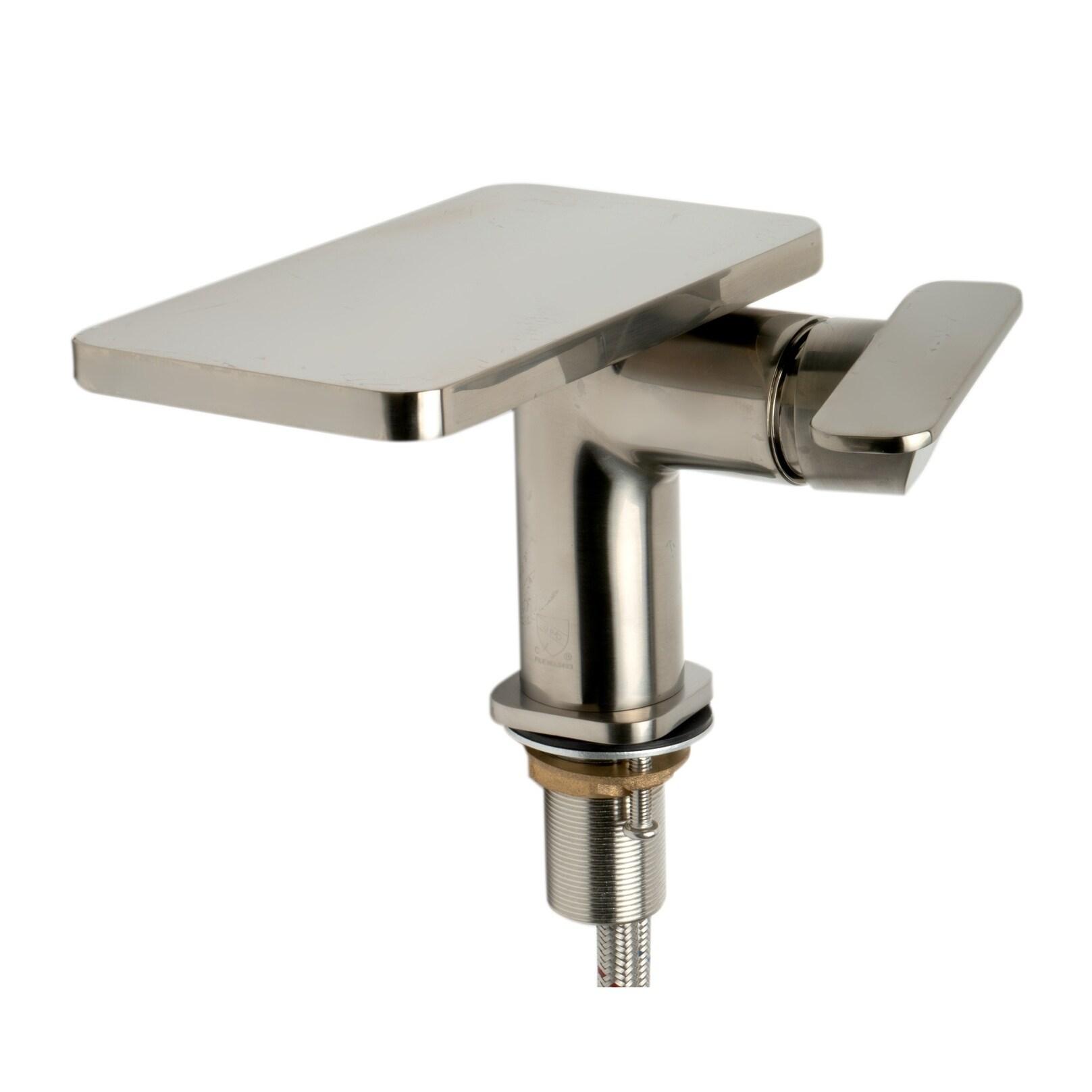 ALFI Brand Brushed Nickel Single-lever Bathroom Faucet