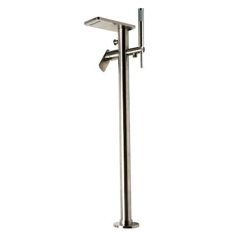 ALFI brand AB2875-BN Brushed Nickel Free Standing Floor Mounted Bath Tub Filler - Silver