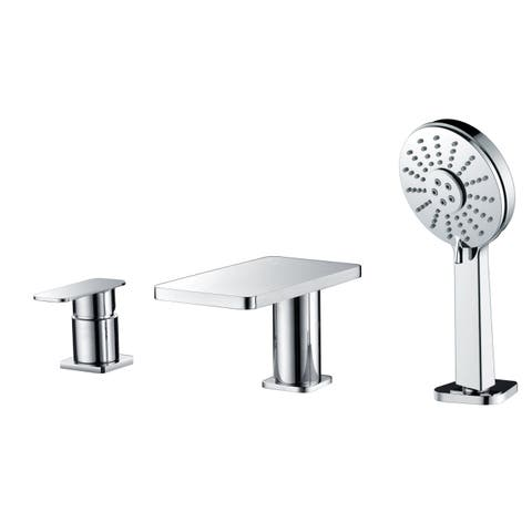 ALFI AB2879-PC Polished Chrome Deck Mounted Tub Filler with Handheld Showerhead
