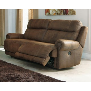 Austere  Contemporary 2 Seat Reclining Power Sofa Brown