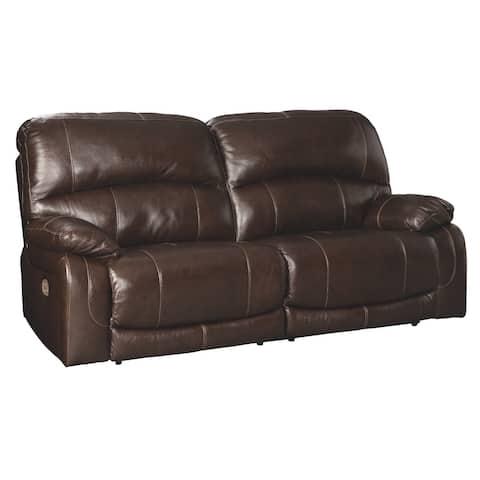 c9969e36e5 Signature Design by Ashley Hallstrung Chocolate 2 Seat Reclining Power Sofa
