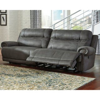 Copper Grove Dnipro 2-seat Grey Reclining Power Sofa