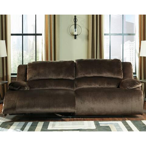 Clonmel Contemporary 2 Seat Reclining Power Sofa Chocolate
