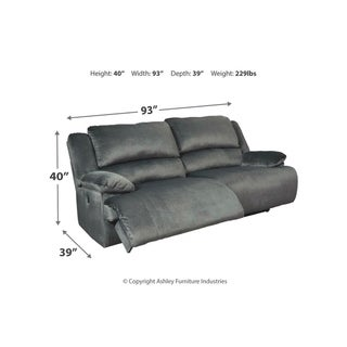 Signature Design by Ashley Clonmel Charcoal 2 Seat Reclining Sofa