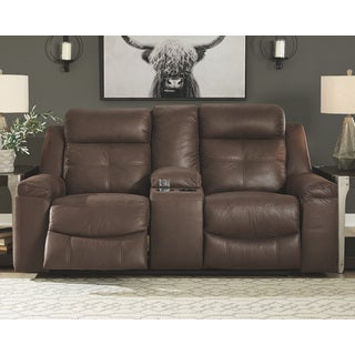 Shop Jesolo Dark Gray Double Rec Loveseat With Console N