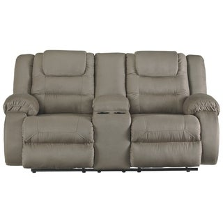 Shop Bonded Leather Loveseat With 2 Reclining Seats And