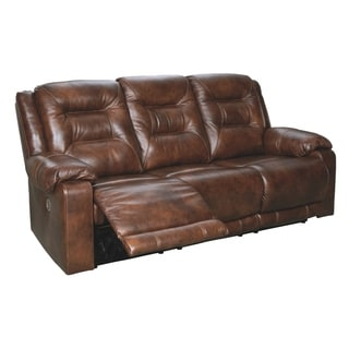 Shop Signature Design By Ashley Barrettsville Durablend Chocolate 2 Seat Reclining Sofa Free