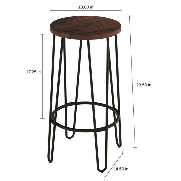 Sensational Shop Carbon Loft Malory Elm Wood Bar Stools With Hairpin Pdpeps Interior Chair Design Pdpepsorg