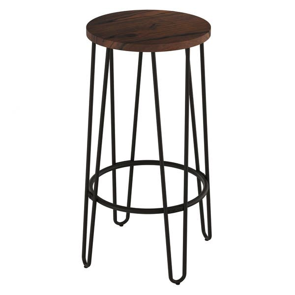 Tremendous Shop Carbon Loft Malory Elm Wood Bar Stools With Hairpin Pdpeps Interior Chair Design Pdpepsorg