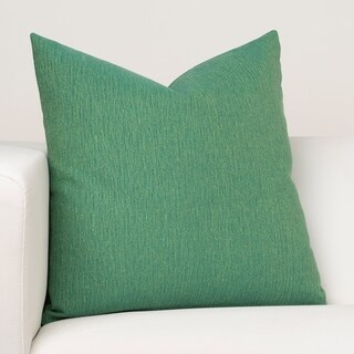 Ernest Hemingway Bayside Green/Blue Fabric and Cotton Blend/Down Alternative Square Designer Throw Pillow