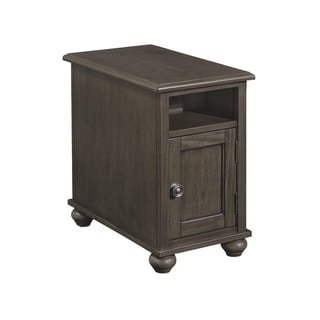 Devensted Traditional Chair Side End Table Dark Gray