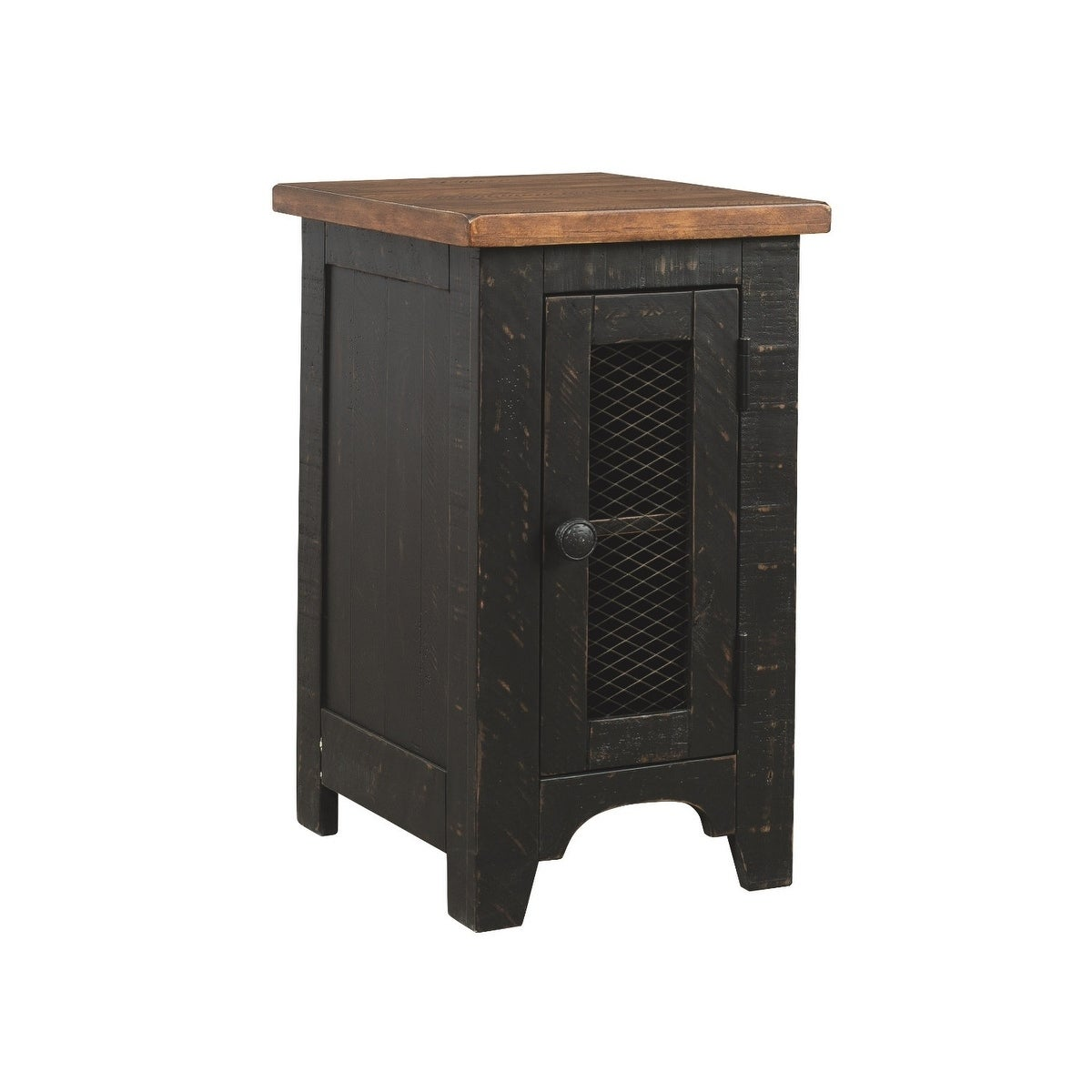 Shop Valebeck Casual Chair Side End Table Black Brown Overstock