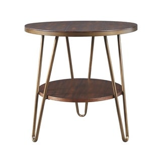 Lettori Casual Round End Table Brown