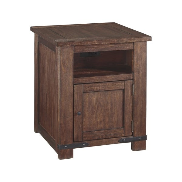 Shop Budmore Casual Rectangular End Table Brown Free
