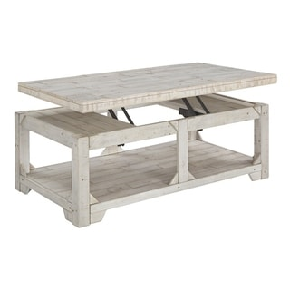 Fregine Casual Lift Top Cocktail Table Whitewash