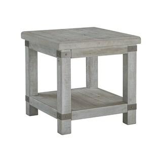 Carynhurst Casual Rectangular End Table White Wash Gray