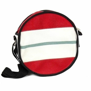 Link to Handmade Recycled Firehose Round Binocular Shoulder Bag Similar Items in Shop By Style