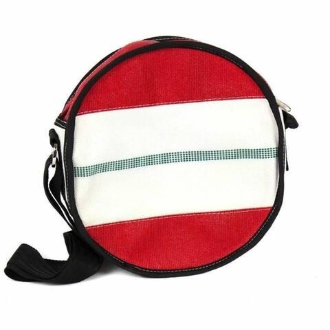 Handmade Recycled Firehose Round Binocular Shoulder Bag