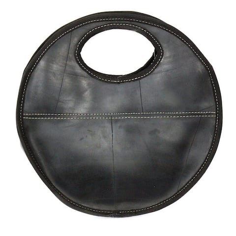 Recycled Tire Rubber Round Handbag