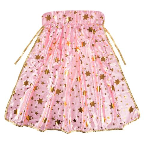 Princess Cape- Pink and Gold with Star Detail-Pretty Pretend Play Dress Up by Hey! Play!