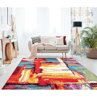 Porch & Den Myslony Multi-colored Abstract Area Rug