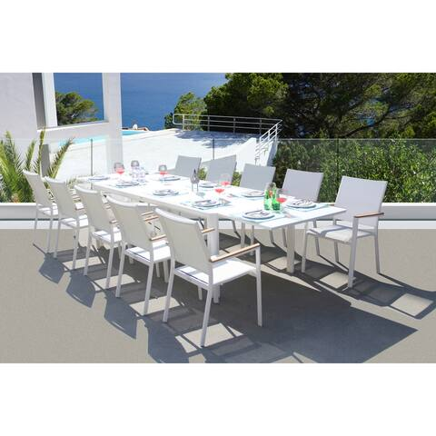 Essence 11 Pc Dining Set - Fabric color_White