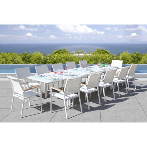 Essence 13 Pc Dining Set - Fabric color_White