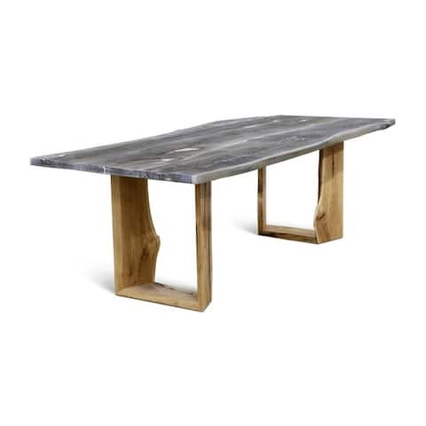 BERGEN 200 dining table - Whitewashed Oak/Natural Oak